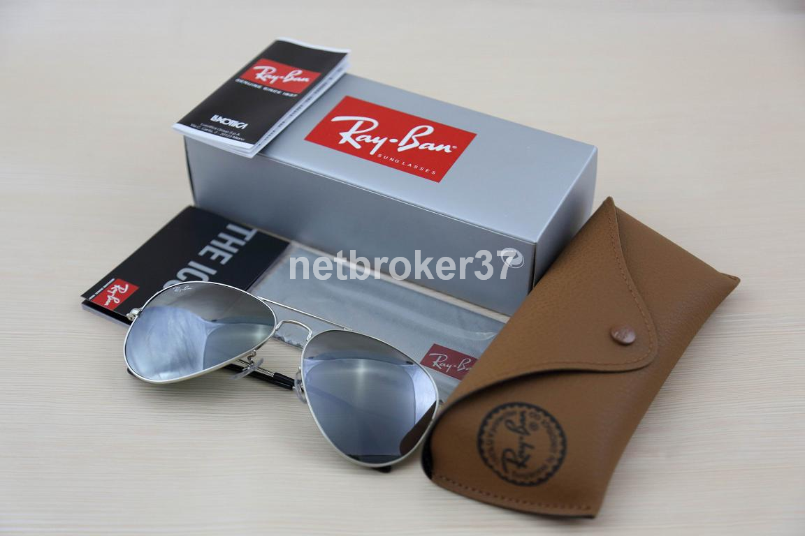 ray ban 50 22  ray-ban silver grey mirror