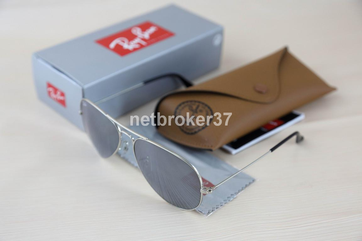 aviator ray ban mirrored sunglasses  ray-ban silver grey mirror